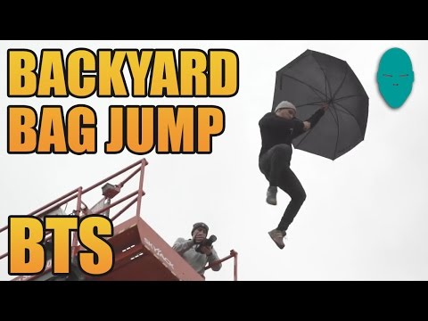 Mary Poppins IRL! | Bag Jump Behind the Scenes | Damien Walters