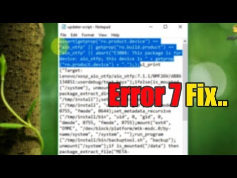How to Fix Error 7 / Verification issues while flashing ROM