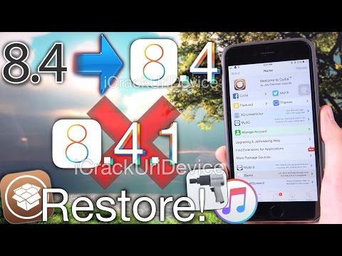 Restore iOS 8.4 no iOS 8.4.1 Update & Jailbreak TaiG - Cydia Impactor + iPhone, iPad & iPod Touch