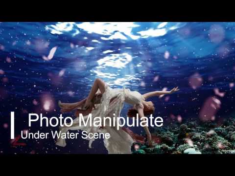 Amazing Underwater scene in photoshop: Photoshop Hindi Tutorial