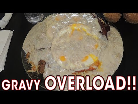 Delicious Breakfast Challenge Smothered w/ Gravy!!