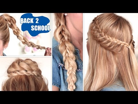 Easy back to school hairstyles ★ Cute, quick and easy braids for medium/long hair