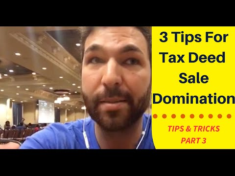 3 Tips For Dominating A Tax Deed Sale Part 3