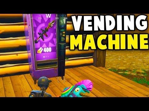 Fortnite VENDING MACHINE GAMEPLAY NEW UP