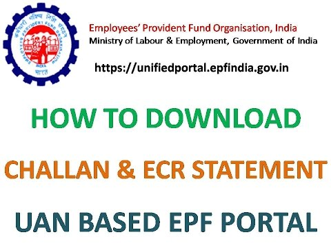How to download Challan and ECR statement