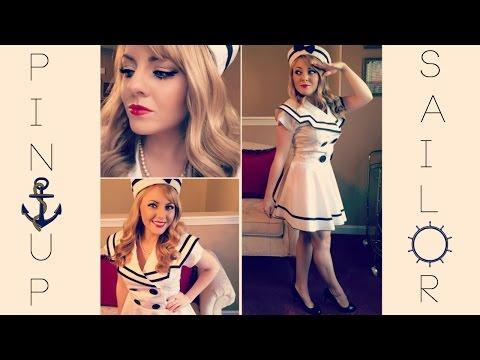 Pin Up Sailor Halloween Makeup Tutorial & Costume!