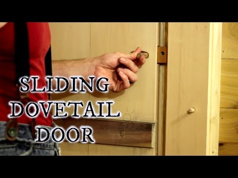 Our timber frame cabin part XXII: SLIDING DOVETAIL BATTEN DOOR WITH WOODEN HINGES