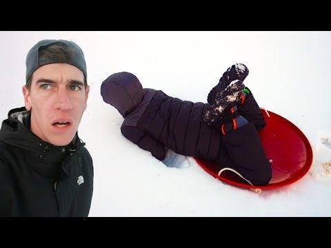Downhill Sledding Fail