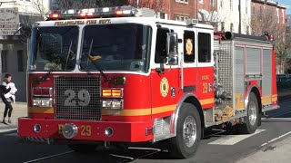 Philadelphia Fire Department Engine 29 & Medic 202 Responding 11/13/19
