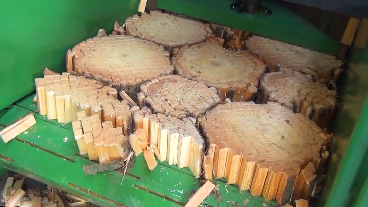 Extremely Dangerous Homemade Firewood Cutting Machines & Log Splitter Operation !