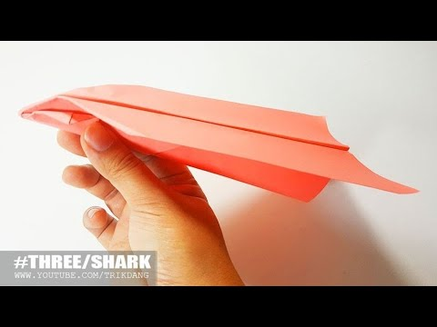 COOL PAPER AIRPLANE - How to make a Paper Airplane that FLIES FAR | Shark