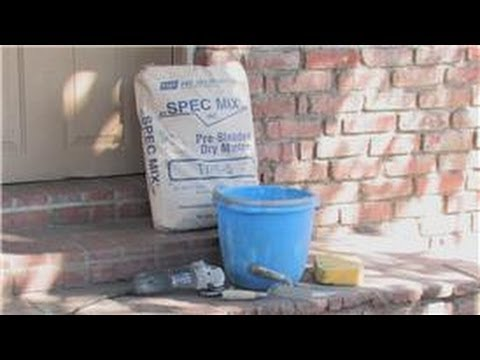 Concrete & Masonry : How to Apply & Repair Grout