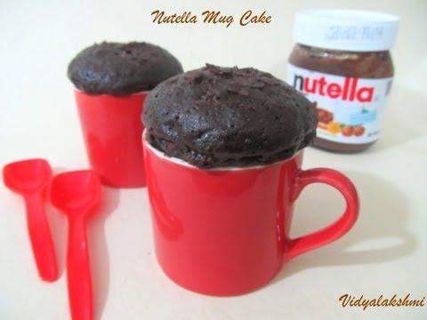 Microwave Nutella Mug Cake Recipe in Tamil