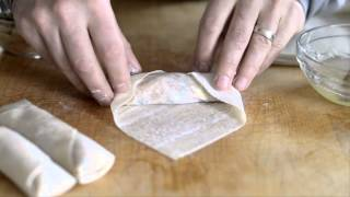 Chicken Vegetable Egg Rolls or Spring Rolls Recipe