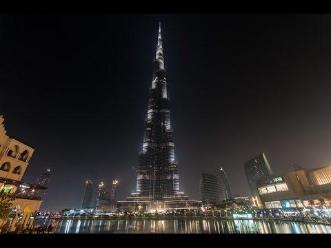 The Burj Khalifa, Dubai (Day & Night)