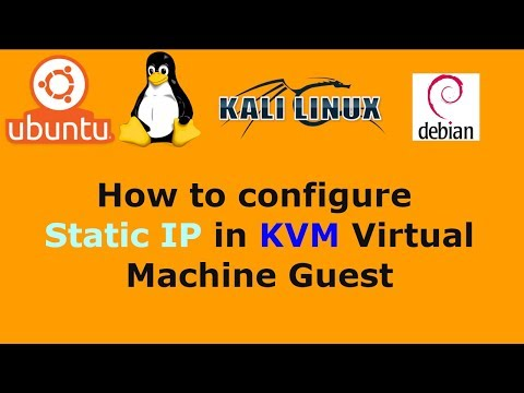 How to configure Static IP in KVM Virtual Machine Guest