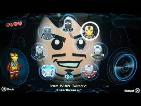 LEGO Marvel's Avengers - All Iron Man Suits Unlocked W/ Gameplay (Ps Vita)