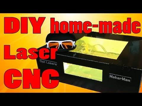 DIY Metal engraving 6watts Laser CNC | OPT Lasers | MakerMan