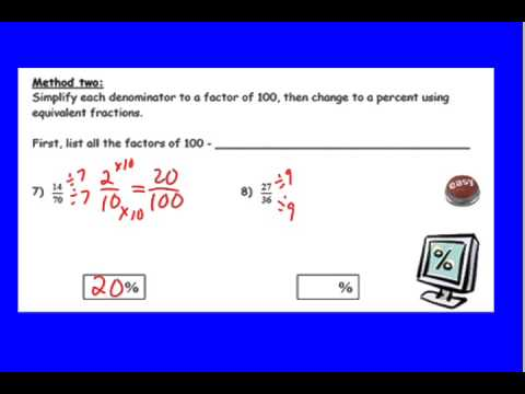 How to Change Basic Fractions to Percents