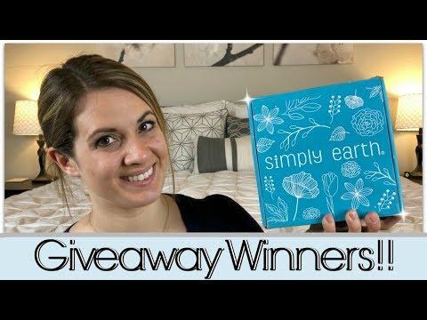 SIMPLY EARTH & TARGET GIVEAWAY WINNER :: BONUS WINNER :: 5K SUBSCRIBERS :: THANK YOU!!