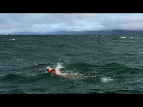 Woman's dangerous swim to Golden Gate Bridge makes history