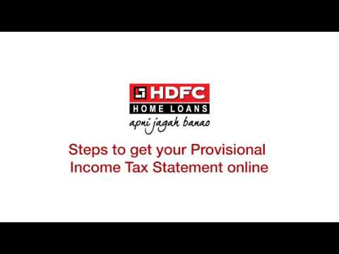 How To download your Home Loan Provisional Tax Statement