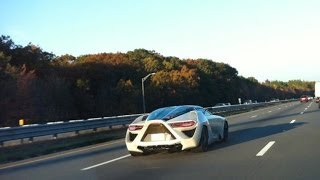 $2 Million Bertone Mantide driving on highway in USA