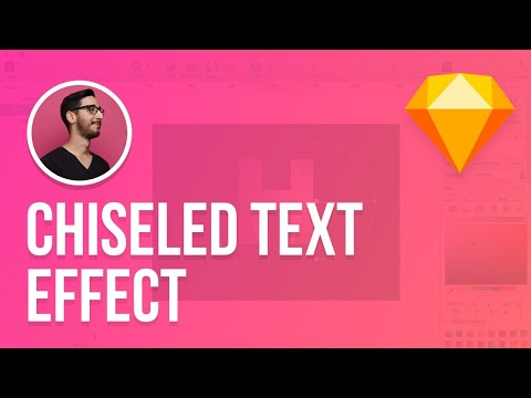 Sketch 3 Tutorial | Chiseled Text Effect