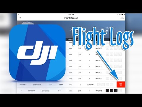 DJI Go App - Remove unwanted Flight Records from your History