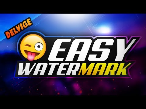 How To Make A WATERMARK Fast And EASY WIth Photoshop CC/CS6 2017!