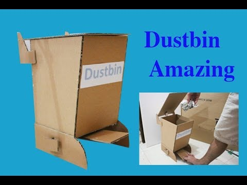 How to Make Amazing Dustbin From Cardboard at Home DIY [tutorial]