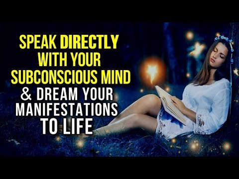 How to LUCID DREAM! Speak DIRECTLY to Your SUBCONSCIOUS Mind & MANIFEST FASTER! (POWERFUL Technique)