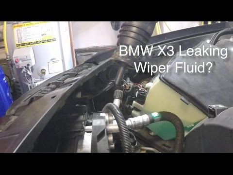 BMW X3 E83 Windshield Washer Pump Diagnose and Repair