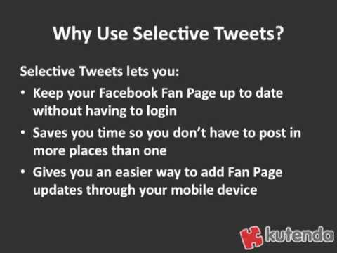 Facebook Fan Page Tip: Post to Fan Page with Twitter