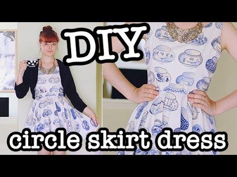 DIY Circle Skirt Dress (aka Skater Dress)