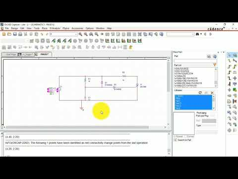 How to build and simulate a simple circuit in PSpice?