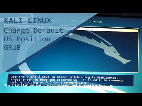 How to change and set default OS Grub bootloader kali linux 2 0