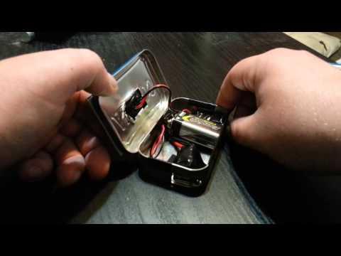 9 volt AND solar power altoids usb charger
