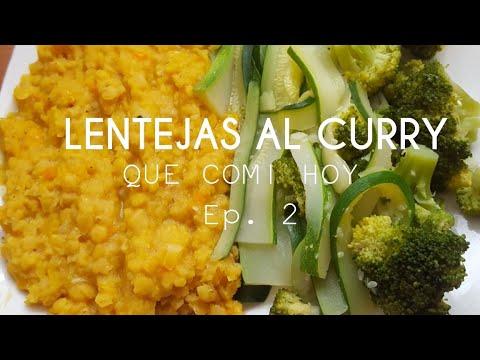 LENTEJAS AL CURRY   QUE COMI HOY EP. 1