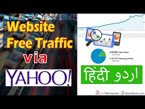 How to Get Unlimited Free Website Traffic via Yahoo | Urdu/Hindi Tutorial