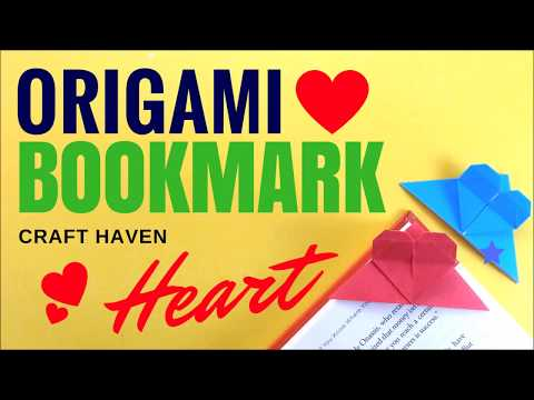 Origami Heart Bookmark - DIY Heart Bookmark - Easy Origami Tutorial for Beginners by Craft Haven