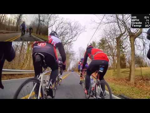 HD Cycling Training - Fast Group Ride in the Hills (Indoor Trainer/Rollers)