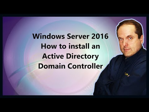 Windows Server 2016 How to install an Active Directory Domain Controller