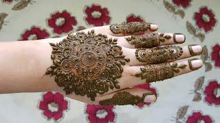 Heavy Mandala henna design #4 | henna design for Eid 2017