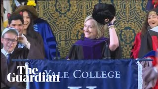Hillary Clinton shows off Russian hat in jab at Donald Trump