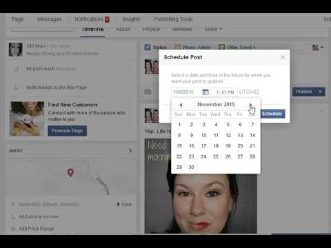 How to schedule posts n your FB business page!