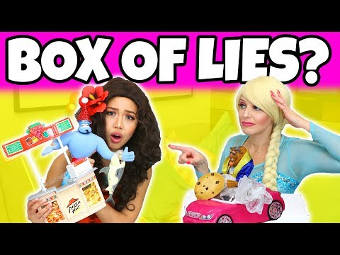 BOX OF LIES. (Are Elsa and Moana Telling the Truth?)