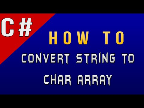 How to Convert String to Char Array in C#/Csharp