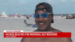 Beaches already packed on first day of Memorial Day weekend - NBC 15 WPMI