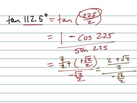 Find tan112.5° (exactly)